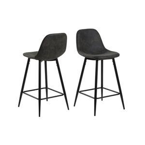 Dkton Designová barová židle Alphonsus antracitová