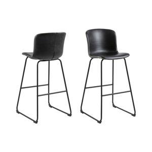 Dkton Designová barová židle Nerilla černá