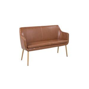 Dkton Designová jídelní lavice Almond koňaková