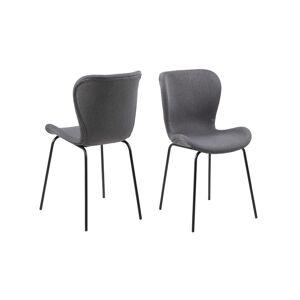Dkton Designová jídelní židle Alejo tmavě šedá