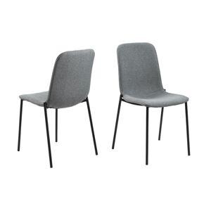 Dkton Designová jídelní židle Alpheus světlešedá