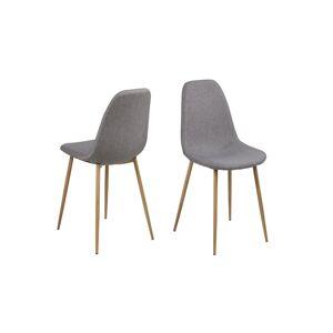 Dkton Designová jídelní židle Alphonsus světlešedá