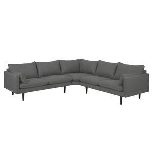 Dkton Designová sedací souprava Nanjala 255 cm tmavě šedá