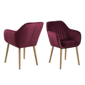 Dkton Dizajnové židle Nashira bordová VIC