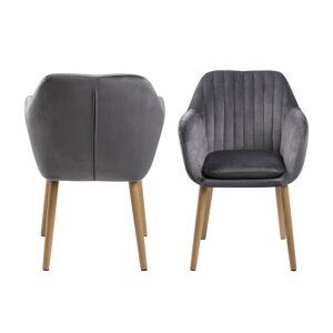 Dkton Designové židle Nashira tmavě šedá VIC