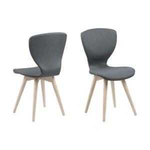 Dkton Designová židle Neoma tmavě šedá a bílá