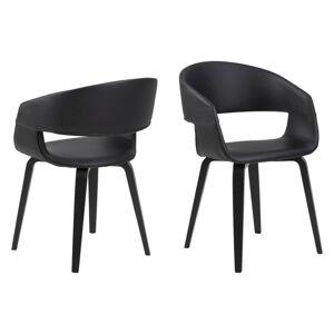Dkton Designová židle Nere černá-bříza