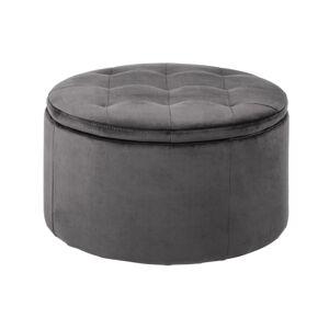 Dkton Designová taburetka Nasima tmavě šedá