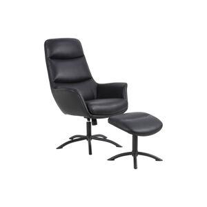 Dkton Designové relaxační křeslo Niobe černé II