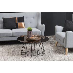 Dkton Designový konferenční stolek Ahmed bronzová / černá