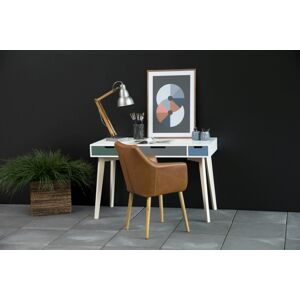 Dkton Designový psací stůl Narelle 120 cm barevný