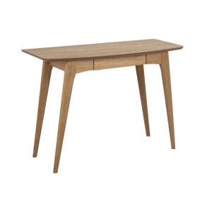 Dkton Designový psací stůl Narnia 105 cm olejovaný dub