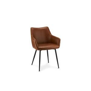 Furnistore Elegantní židle Abacus, koňaková