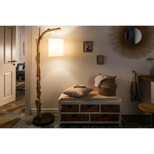 LuxD 21450 Designová stojanová lampa Arielle, 163 cm, náplavové dřevo