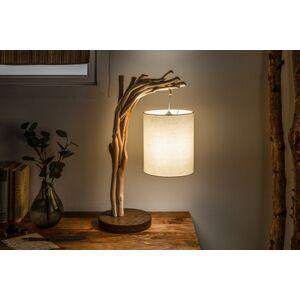 LuxD 21449 Designová stolní lampa Arielle, 60 cm, náplavové dřevo