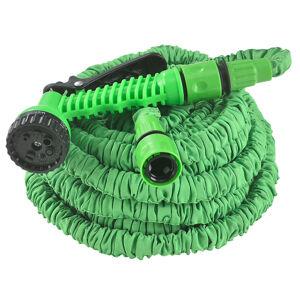 Flexibilní zahradní hadice Aqua 22,5m s multifunkcionálnou hlavicí zelená