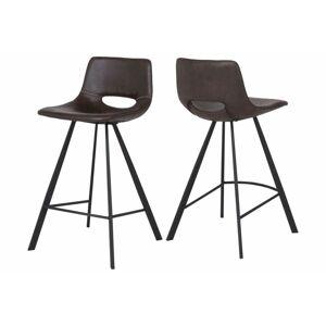 Catalent Barová židle Izabella 87 cm / tmavě hnědá