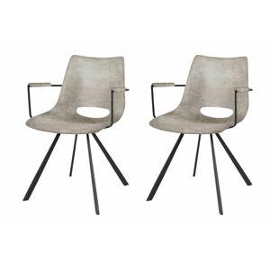 Catalent Designová židle Izabella s opěrkami / béžová-černá