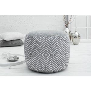 LuxD Designová taburetka Orient / bílá - šedá