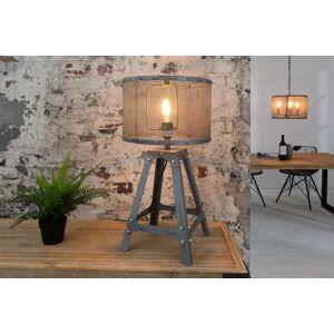 LuxD 20035 Designová stolní lampa Metall 60 cm / šedá