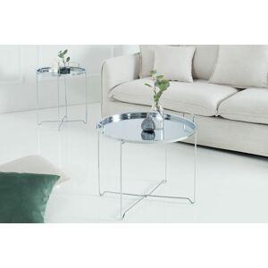 LuxD Konferenční stolek Maroko / stříbrný