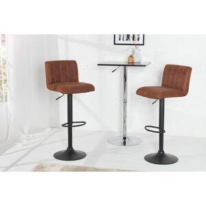 LuxD Barová židle Pretty vintage hnědá / 109 cm