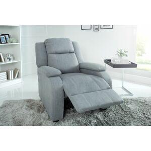 LuxD Relaxační křeslo Movie světle šedé