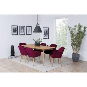 Dkton Jídelní stůl Naiara 180 cm dub