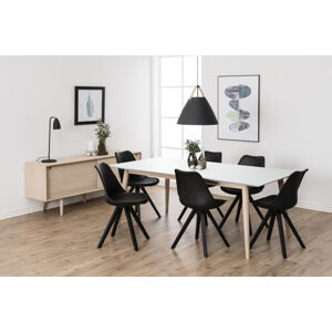 Dkton Jídelní stůl rozkládací Nadia 200/300 cm bílý
