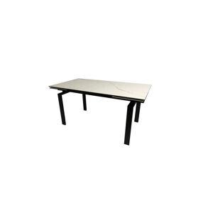 Dkton Jídelní stůl rozkládací Neema 160/240 cm bílé sklo