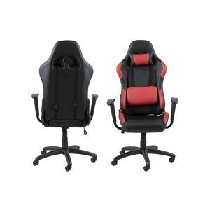 Dkton Kancelářská židle Natalee černá-červená