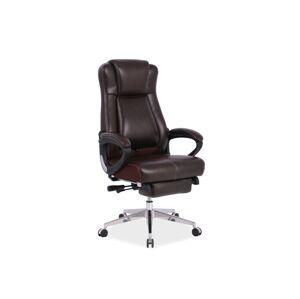 Kancelářská židle PRESIDENT hnědá