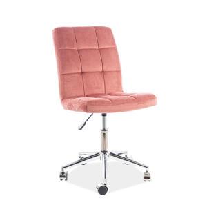 Kancelářská židle Q-020 starorůžová bluvel 52