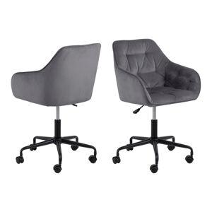 Dkton Kancelářská židle Alarik tmavě šedá