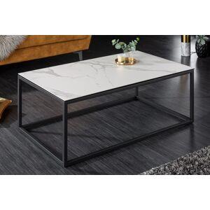 LuxD Keramický konferenční stolek Sloane 100 cm bílý mramor