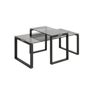 Dkton Konferenční stolek 2-set Akamu kouřová