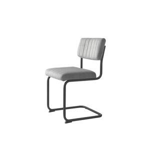 Furniria Konzolová židle Javon šedý samet
