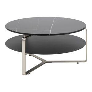 Dkton Luxusní kulatý konferenční stolek Bentlee 90 cm