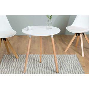 LuxD Barový stolek Sweden 60 cm bílý
