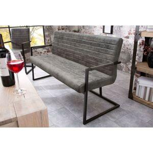 LuxD Dizajnová lavice Maximiliano vintage šedá