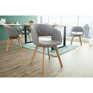 LuxD Designová židle Colby šedá - II. třída