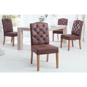 LuxD Designová židle Queen hnědá kávová