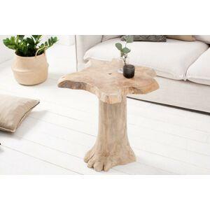 LuxD Konferenční stolek Madeleine 60 cm teak - Skladem