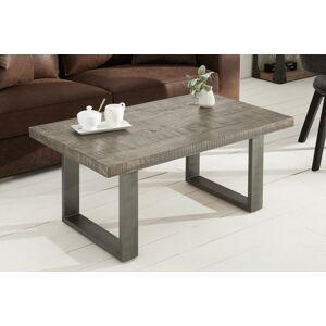 LuxD Konferenční stolek Thunder II 100 cm šedé mango