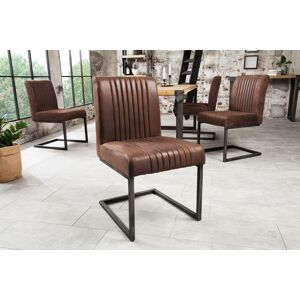LuxD Židle Boss II Vintage hnědá