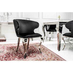 LuxD Designová židle Rococo II černý samet