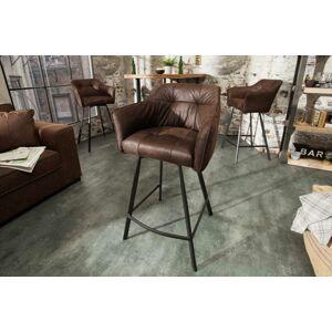 LuxD Designová barová židle Giuliana, antik hnědá