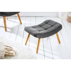 LuxD Designová podnožka Sweden, šedá