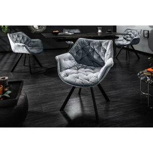 LuxD Designové křeslo Kiara šedé