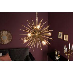 LuxD 21137 Designové závěsné svítidlo Abram, 50 cm, zlaté závěsné svítidlo